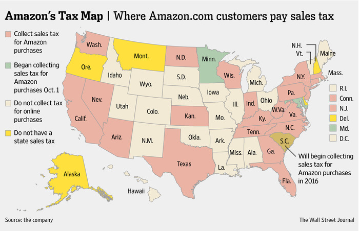 Amazon Tax Map